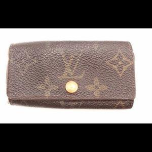 Louis Vuitton Trifold 4 Ring Key Holder Wallet